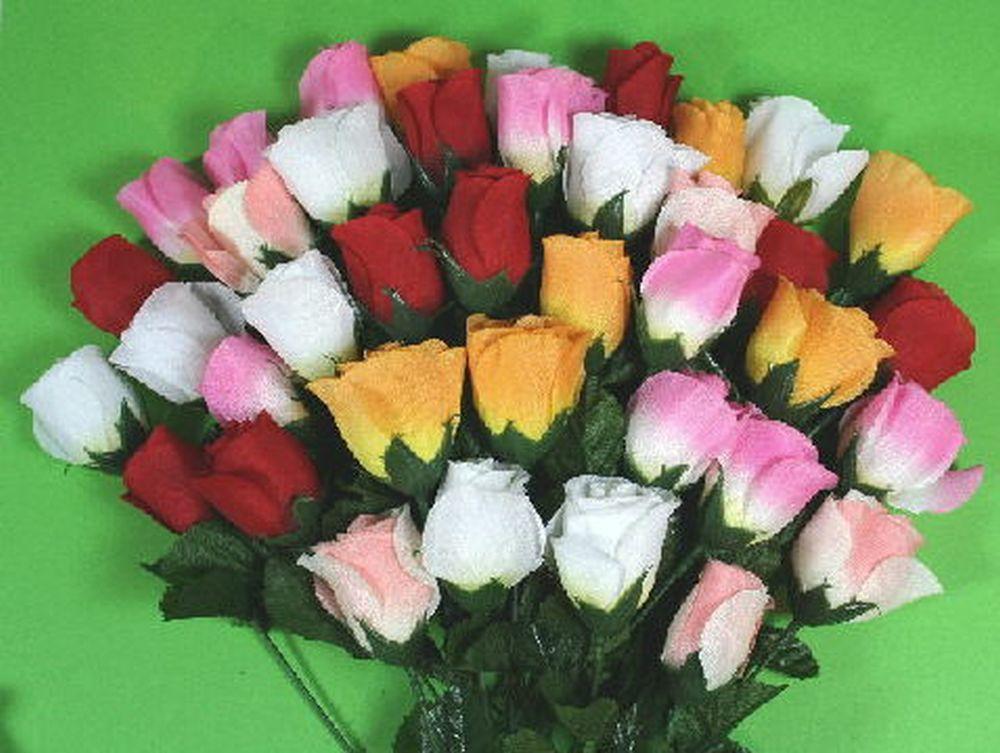 144 edle rosen bunt rose blume seidenblumen kunstblumen ebay. Black Bedroom Furniture Sets. Home Design Ideas
