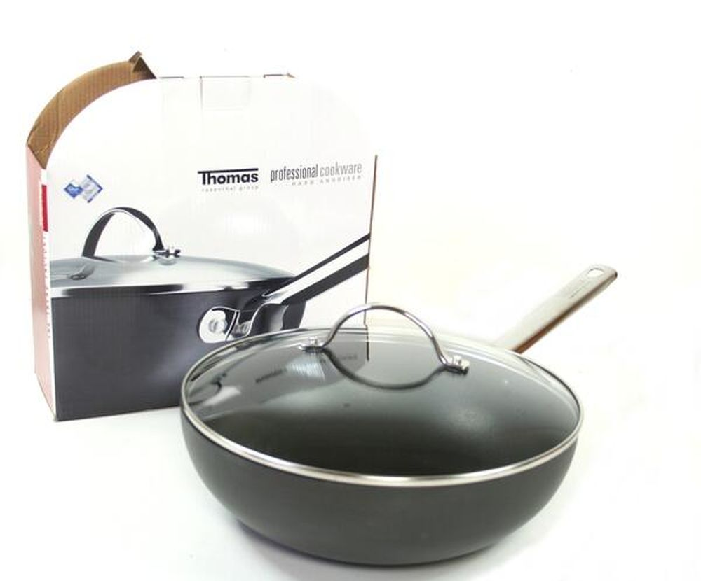 thomas rosenthal wokpfanne mit deckel 28 cm wok teflon pfanne antihaft kochen ebay. Black Bedroom Furniture Sets. Home Design Ideas