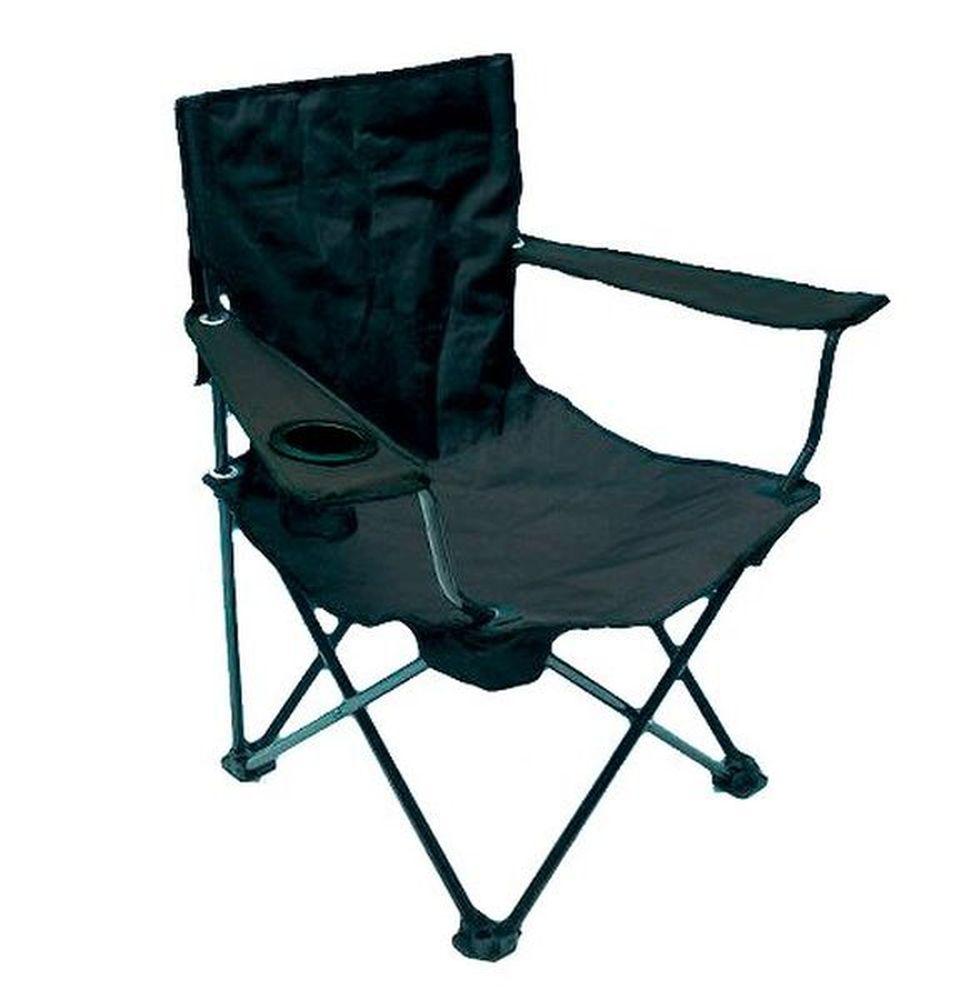 anglersessel mit armlehnen und dosenhalter camping stuhl. Black Bedroom Furniture Sets. Home Design Ideas