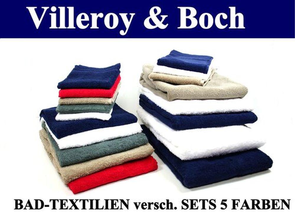 VILLEROY-amp-BOCH-BAD-TEXTILIEN-versch-SETS-5-Farben-V-amp-B